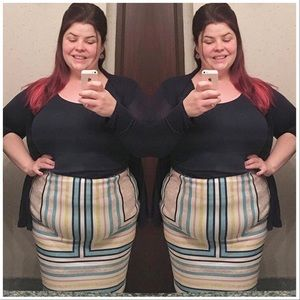 Eloquii Plus Size Pencil Skirt Stretch Knit 20